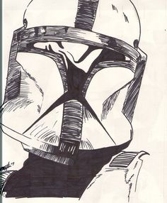 Sketch: Clone Trooper by grantgoboom on DeviantArt Star Wars Lego, Star Wars Clone Wars, Star Wars Art, Guerra Dos Clones, Cuadros Star Wars, War Tattoo, Sith, Star Wars Drawings, Star Wars Collection