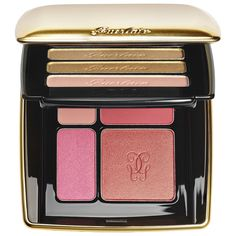 Shop Guerlain's Eye and Blush Palette at Sephora. It& filled with five iridescent eye shadows, two matte blushes, and two pearlescent blushes. Cheek Makeup, Glam Makeup, Makeup Blush, Makeup Inspo, Beauty Products Gifts, Best Makeup Products, Iridescent Eyeshadow, Paraben Free Makeup, Guerlain Makeup