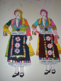 Dress Illustration, Greek Language, 25 March, Traditional Dresses, Doodles, Costumes, Blog, Crafts, 1 Decembrie