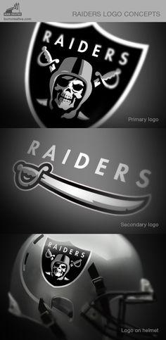 Oakland Raiders logo concept on Behance Okland Raiders, Raiders Helmet, Raiders Stuff, Oakland Raiders Football, Raiders Baby, Nfl Football, Football Helmets, Raiders Stickers, Raider Nation