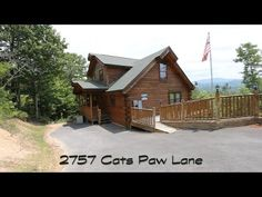 Sky Harbor, Pigeon Forge, TN. For Sale, 2 Bedroom, 3 Bath, Log Cabin, View, Mountains - YouTube