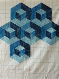 Image result for hexagon denim quilt