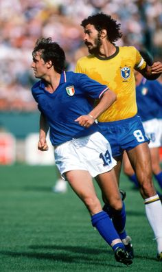 Socrates v Marco Tardelli, 1982 World Cup final. www.kanootravel.co.uk