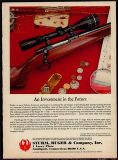 1981 RUGER M-77 Rifle Print AD : Other Collectibles at GunBroker.com