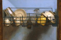 Dishwasher by Kate Lehman Still Life 2, Be Still, Fallout New Vegas, Painting Still Life, Colour Board, Realism Art, Muted Colors, Contemporary Artists, Post Contemporary