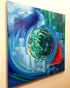 Whisper of the Sea | Oil on Canvas | 36x36in | www.laelanielarach.com