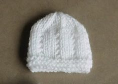 """Jasmine Baby Hat Jasmine Baby Hat for a baby of 0 – 3 months Size: Width: - 6 """", 11 - 12 """" all around Height: - 6 """" Tension: & Require Baby Cardigan Knitting Pattern Free, Baby Hats Knitting, Baby Knitting Patterns, Knitted Hats, Crochet Patterns, Free Knitting, Newborn Knit Hat, Newborn Hats, Baby Newborn"""