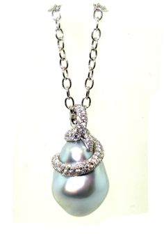 Baroque Grey South Sea Pearl Pendant by Pearl Ring, Pearl Jewelry, Pearl Earrings, Drop Earrings, Ring Necklace, Pendant Necklace, Japanese Pearls, Gem Shop, Jewelry For Her