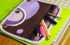 Pencil pouch for binder