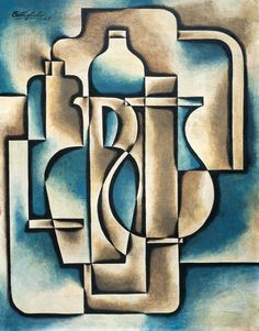 José Pedro Costigliolo, still life composition, 1948 Cubist Paintings, Cubist Art, Abstract Art, Abstract Styles, Still Life Artists, Composition Art, Still Life Drawing, Geometric Art, Geometric Designs