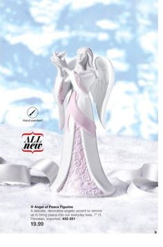 ANGEL OF PEACE FIGURINE $19.99 Campaign 24 page 9 https://www.avon.com/brochure?rep=vickiallen#/1/201624/en/8
