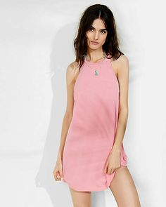 hi-lo shirttail trapeze dress