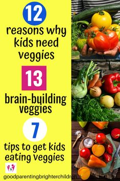Here are the Most Amazing Veggies that Make Kids Smarter! Want happy, healthy & smart kids? Feed them veggies for super brain-power & increased cognitive function. Veggies keep kids energized & the beautiful colors keep kids healthy. Healthy Meals For Kids, Healthy Eating Recipes, Happy Healthy, Healthy Summer, Veggie Snacks, Diet Snacks, Health Eating, Eating Raw, Brain Boosting Foods