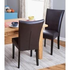 Home Decorators Collection Dark Brown Parsons Dining Chair (Set of 2) CNF1356 at The Home Depot - Mobile
