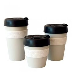 KeepCup barista-friendly commuter cups – the 8 and 12 oz. sizes fit under the heads of espresso machines.  $14