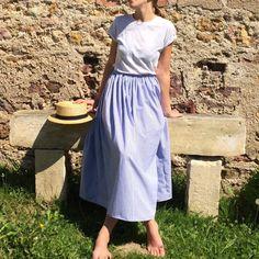 jupe midi taille élastique