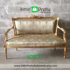 Sold Antique French Louis Xvi Living Room Chair Fauteuil Settee Sofa Couch Baroque Rococo Music