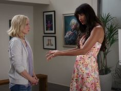 Tahani Al-Jamil's 'Senona' Strapless Fit & Flare Dress on The Good Place