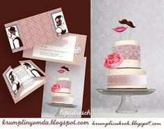 mustache-mouth wedding cake by Lipovszky-Drescher Mária Wedding Cake Inspiration, Gender Reveal, Wedding Cakes, Place Cards, Place Card Holders, Mustache, Party, Kiss, Wedding Gown Cakes