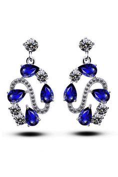 XCrystal - Zirconia Vintage Drop Earrings