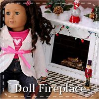 how to make a doll fireplace american girl