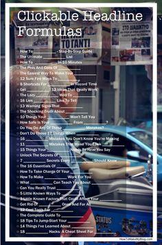 51 Quick Hacks That Will Make You Write Attractive Headlines… Marketing Digital, Content Marketing, Internet Marketing, Online Marketing, Social Media Marketing, Mail Marketing, Marketing Ideas, Business Marketing, Blog Writing Tips