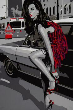 Silvia Papas - Too much is not enough, 66*100 cm, serigrafi (silk-screen printing)