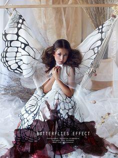 ALALOSHA: VOGUE ENFANTS: Butterflies effect is a new beauty story shot by photographer Christina Alikhanova. Style Zoya Gordeeva