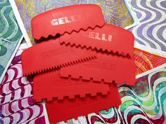 Printing with Gelli Arts®: Awesome NEW Gelli® Printing Tools — and a Giveaway!!!