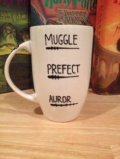 Fill line with coffee or tea Harry Potter Mug por aCupofNostalgia