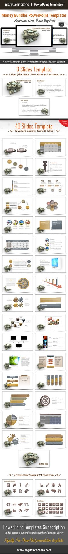Impress and Engage your audience with Money Bundles PowerPoint Template and Money Bundles PowerPoint Backgrounds from DigitalOfficePro. Each template comes with a set of PowerPoint Diagrams, Charts & Shapes and are available for instant download.