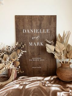 WELCOME Wedding Wooden Sign   Engagement Wedding Signage Decor   Dark Brown Timber Wedding Signs   Willow And Ink