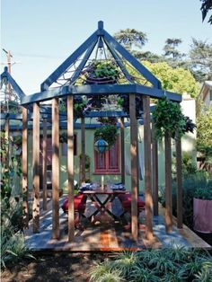 Image Result For Square Arbor With Pointed Roof