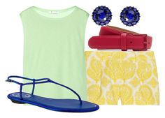 """Mulan, summer"" by dreamsofglory ❤ liked on Polyvore featuring Diane Von Furstenberg, T By Alexander Wang, Lacoste, Color My Life and René Caovilla"