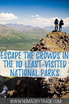 If you're looking for a crowd-free summer vacation, check out one (or more!) of the 10 least-visited national parks in the US. Spanning from Alaska to Florida to the South Pacific, you'll find mountains, volcanoes, sandy beaches, and more - all while escaping the crowds. Click for more info! #USA #NationalParks #SummerVacation Katmai National Park, National Parks Usa, Float Trip, North Cascades, Travel Guides, Travel Tips, Travel Articles, Budget Travel, United States Travel