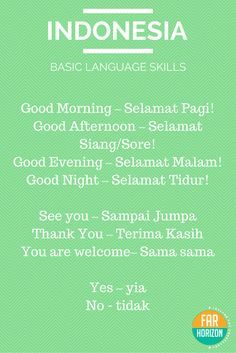 Bahasa Indonesia - Basic Indonesian Words. #indonesian #language #bahasa #indonesia #basic