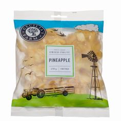 Our dried pineapples come from Limestone Hill Farm near Bathurst, one of the original 1820 Settler farms in the Eastern Cape. Cayenne pineapples used to be associated with the canning and juice industries, but together with Jono Bradfield of Limestone Hill, we developed what we believe is the best dried pineapple on the market: large, bright yellow rings with a delicate. http://ceciliasfarm.co.za/product/pineapple-chunks/