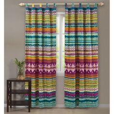 Floral De Lujo tradicional par de cortinas de orificios forradas completamente Crema Natural Oro