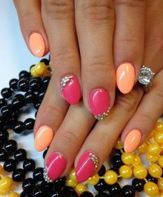 Love the colors but on square nails