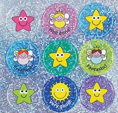 2 sheets 28mm Sparkly Xmas stickers 36 stickers No captions