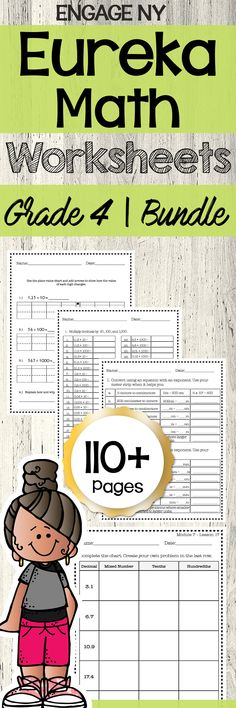Eureka Grade 4 - All Modules BUNDLE | Practice Worksheets * Easy to use with Seasaw and Google Drive (Google Slides) This GROWING Pack Includes: 4th Grade, Module 1: → Lesson 1-19: 44 worksheets 4th Grade, Module 2: → Lesson 1-5: 13 worksheets so far *NEW - 4th Grade, Module 3: → Lesson 1-12: 14 worksheets so far *NEW - 4th Grade, Module 4: → Lesson 1-16: 12 worksheets so far *NEW - 4th Grade, Module 5: → Lesson 1-41: 42 worksheets so far *NEW - 4th Grade, Module 6: Math Worksheets, Math Resources, Math Activities, Elementary Teacher, Elementary Education, Math Education, Math Skills, Math Lessons, Engage Ny