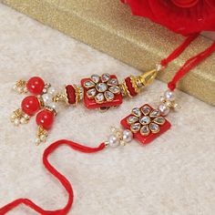 TIED RIBBONS Designer Rakhi for Brother with Mini Rakshabandhan Wishes Card Rakhi Bracelet for Brother