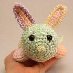 Crochet Plush Easter Bunny Rabbit Toy  Pastel by CrayonJungle, $13.00