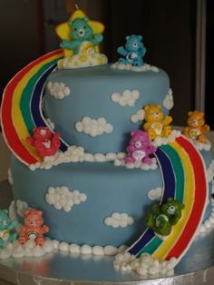 Carebear Birthday Cake — Children's Birthday Cakes