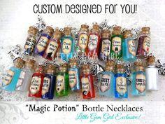 Magic Potion Bottle Necklace  1 CUSTOM You Design Glass