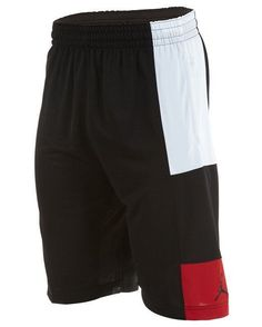 MEN'S 2XL NIKE JORDAN BASKETBALL SHORTS DRI-FIT BLACK RED WHITE ...