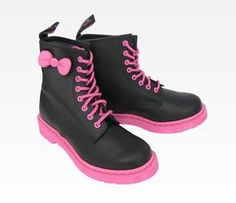 Hello Kitty Dr. Martens Boot: Black