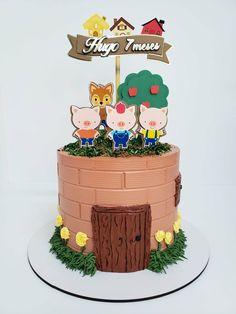 Fruit Cake Watermelon, Hirst, Buttercream Cake, Babyshower, Birthday Cake, Desserts, Three Little Pigs, Big Bad Wolf, Cake Photos