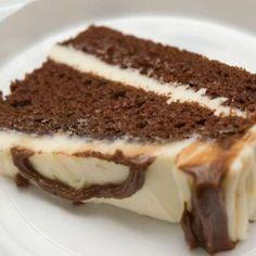 Gâteaux aux deux chocolats à tenter avec fondant au chocolat habituel