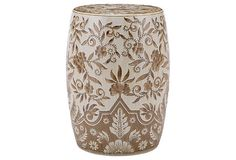 Tristan Garden Stool, Light Brown/White on OneKingsLane.com